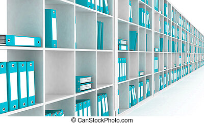 office closet - office closet, isolated on a white...