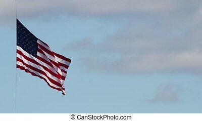 American Flag on July 4th - American Flag Flying High on...