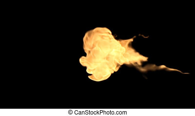 Fire in the alpha channel - Set of 9 scenes flashes of flame...