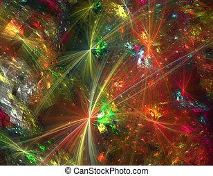 abstract design - colorful abstract chaotic fractal design...