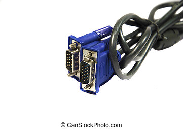 Two spiral and bound VGA cables - Two bound and spiral VGA...
