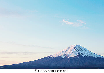 close-up of Mt Fuji