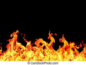 flame frame on black