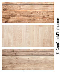 Collection Set Brown wood plank wall texture background...