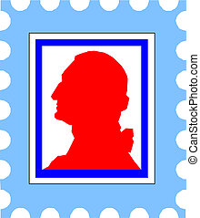 vector post stamp