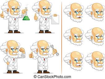 Scientist or Professor Mascot 2 - A vector set of...