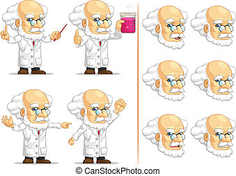 Scientist or Professor Mascot 11 - A vector set of...