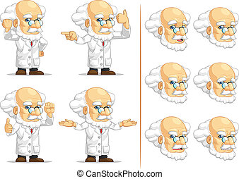 Scientist or Professor Mascot 12 - A vector set of...