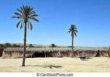 Nomads desert camp in the Negev desert, Israel