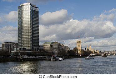 River Thames at Millbank, London