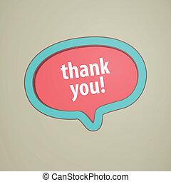 Vector Thank You Speech Bubble