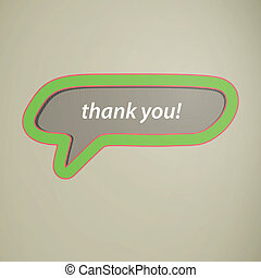 Vector Thank You Speech Bubble