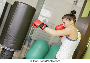 Boxing girl