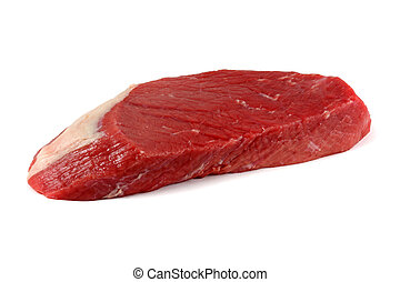 A round of beef : Top round - A cut of meat from an inner...