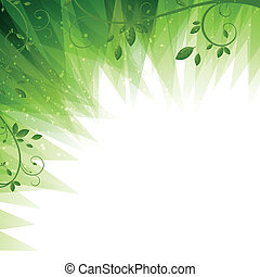 Vector Green Nature Background