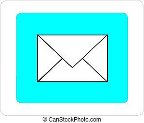 Vector envelope on white background