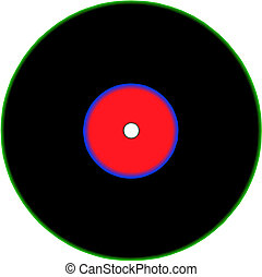Illustration of vinyl record