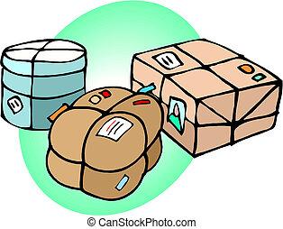 Parcel boxes Vector