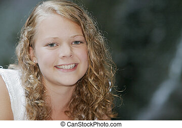 pretty young teen model - one young blonde teen model posing...