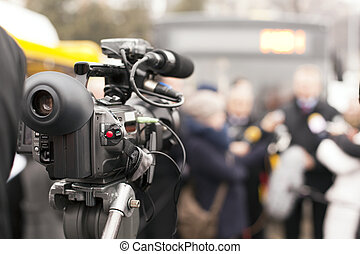 video camera - Covering an event with a video camera
