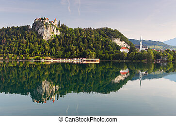 Medieval castle of Bled, Slovenia