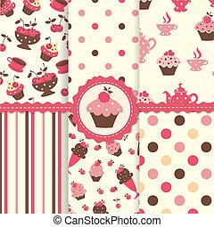 Set of cake patterns