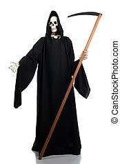 Grim reaper - A grim reaper invites anyone to join him.