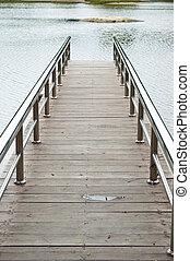 Lake pier.