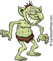 Cartoon troll - Cartoon smiling troll Vector clip art...