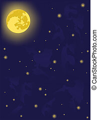 night - moon on night sky vector backgrounds