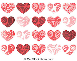 holiday - hearts isolated pattern. vector holiday valentine