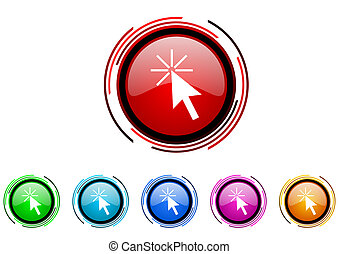 click here icon set