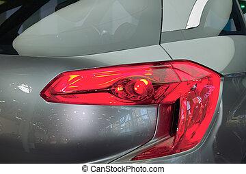 Headlight close-up - Closeup detail of a headlight on a...