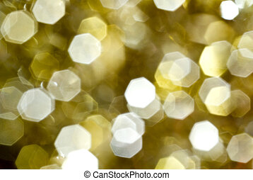 sparkling gold - lens bokeh effect of a christmass...