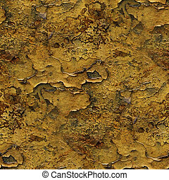 seamless metal background yellow old iron paint rust rusty...