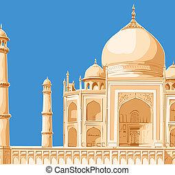 Taj Mahal - Clipart of Taj Mahal