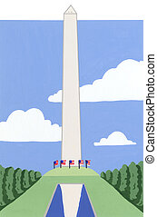 Washington Monument, The Mall, Washington DC, USA