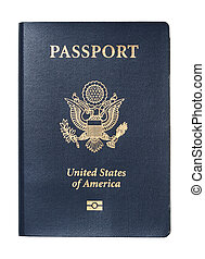 USA Passport isolated - Passport of United States of America