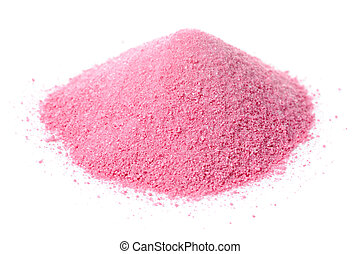 Instant Juice Powder Concentrate Isolated on White...