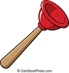 Rubber plunger, vector illustration