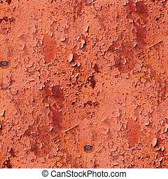 seamless metal texture red background grunge iron wall old...