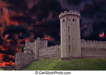 Dark castle - Tall dark Castle from England with a...