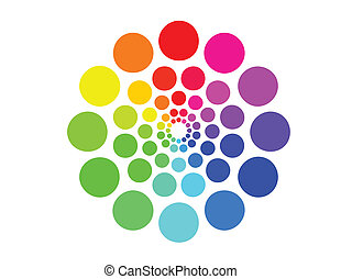 Dotted Color Wheel - A Vector color wheel made of...