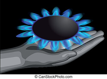 gas on the palm