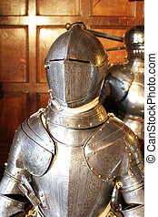 Armour of a king - Front portrait shot of a kings armour in...