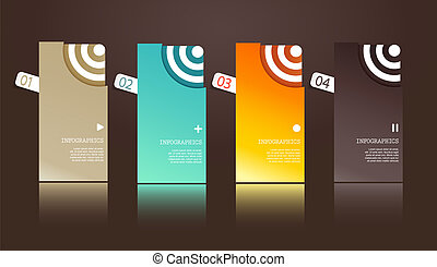Four separate gift cards with circles