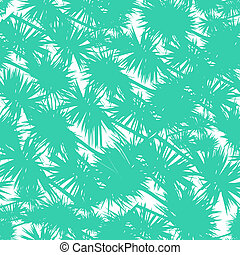Seamless vector pattern with stylized palm leaves in bold...