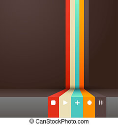 Four colored stripes with place for your own text.