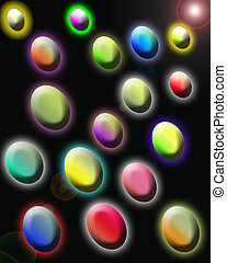 Spots abstract multi-colored