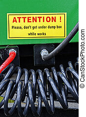 Warning Sign 5 - Part from one equipment for agriculture,...